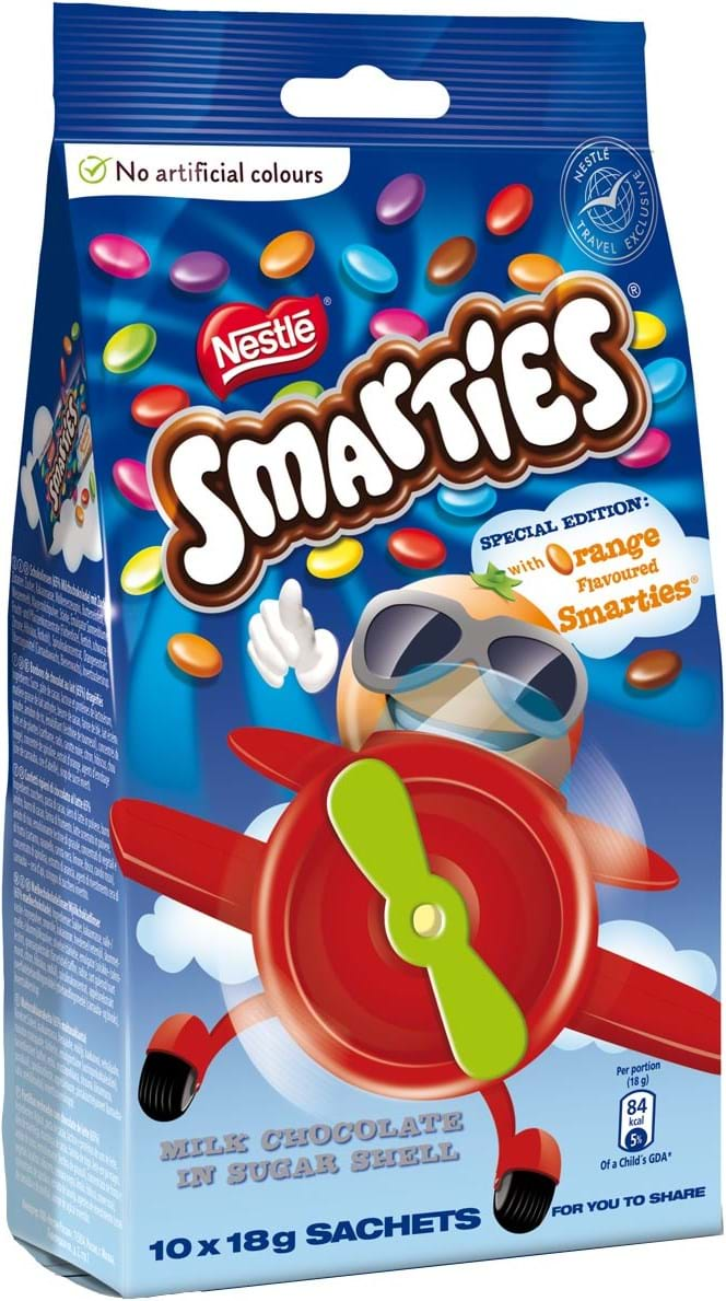 Smarties mini snack bag, 180g