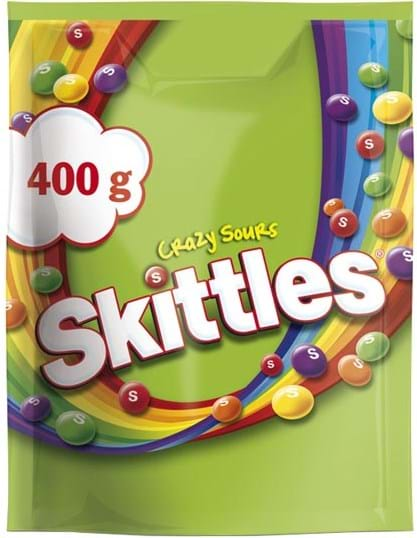 Skittles Crazy Sours pouch 400g