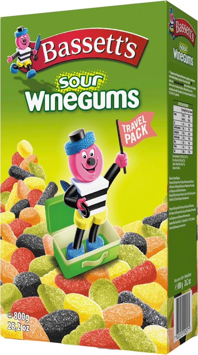 Bassett's Sour Winegums, 800g