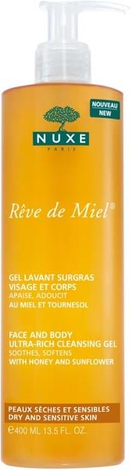 Nuxe Rêve de Miel Face and Body Ultra-Rich Cleansing Gel 400 ml