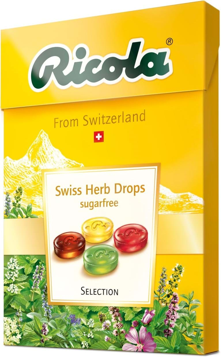 Ricola Swiss Herb Drops Large Box, 4 x 45g