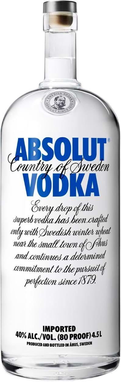 Absolut Vodka 40% 4.5 L