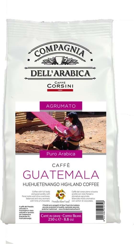 100% Arabica-kaffe fra ét geografisk område. Guatemala Huehuetenango-højlandskaffe, hele bønner 250g