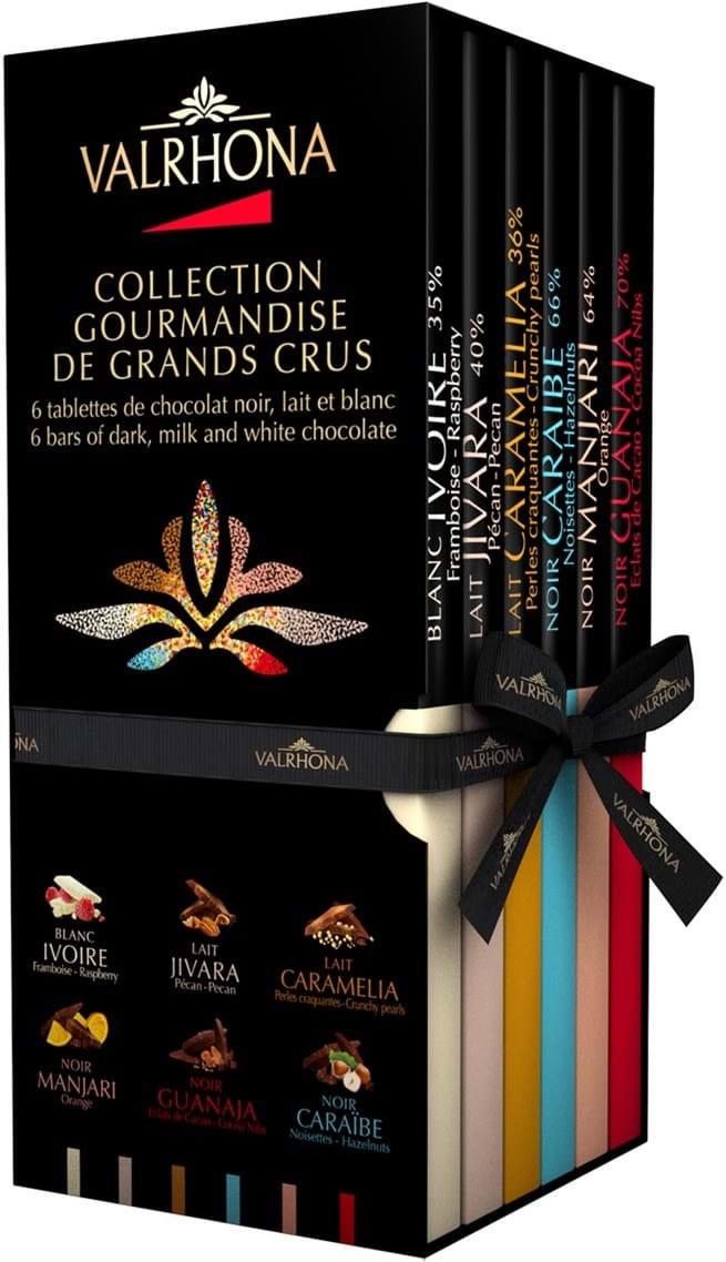 6 plader gourmetchokolade (Grands Crus), gavepakke, 510g