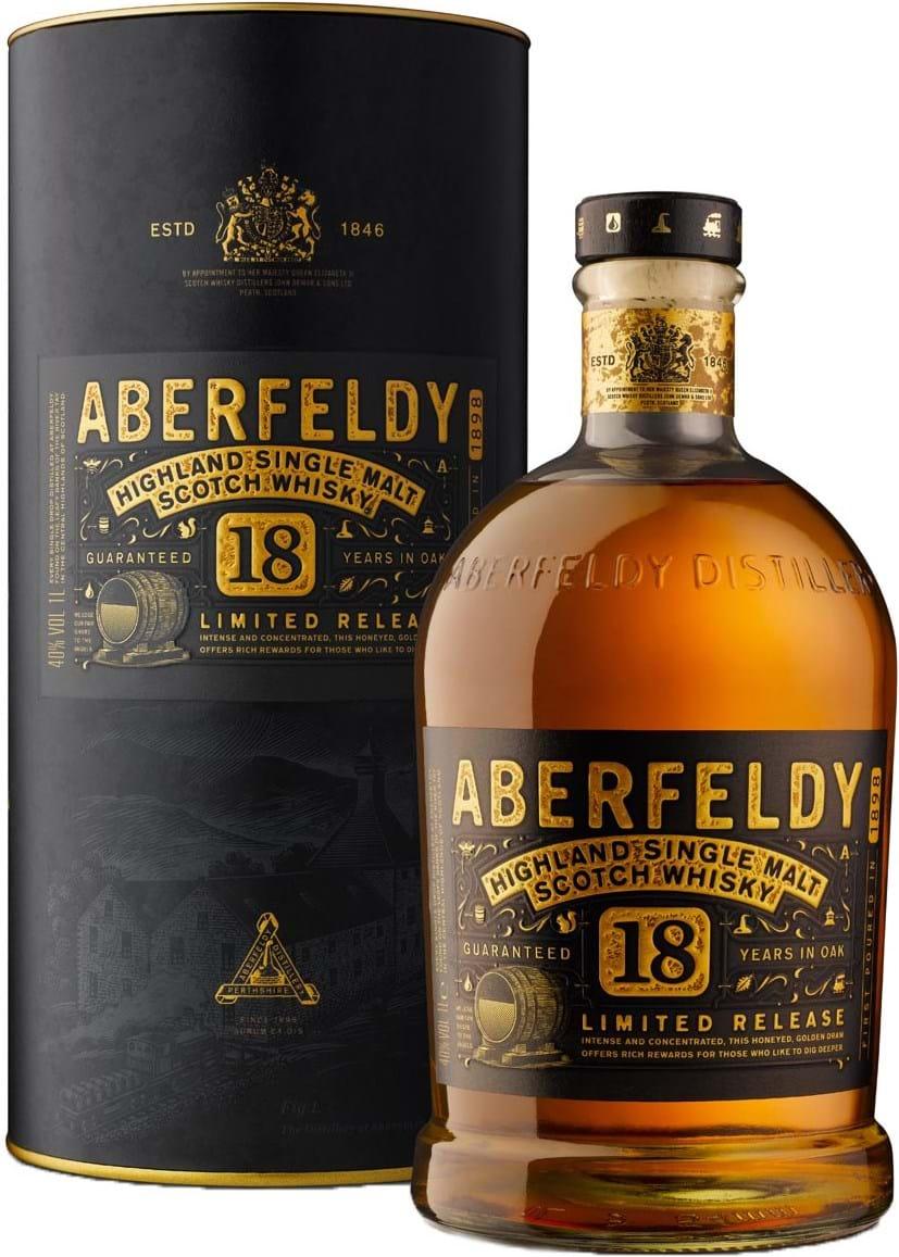 Aberfeldy 18yo 40% 1L, Gift pack