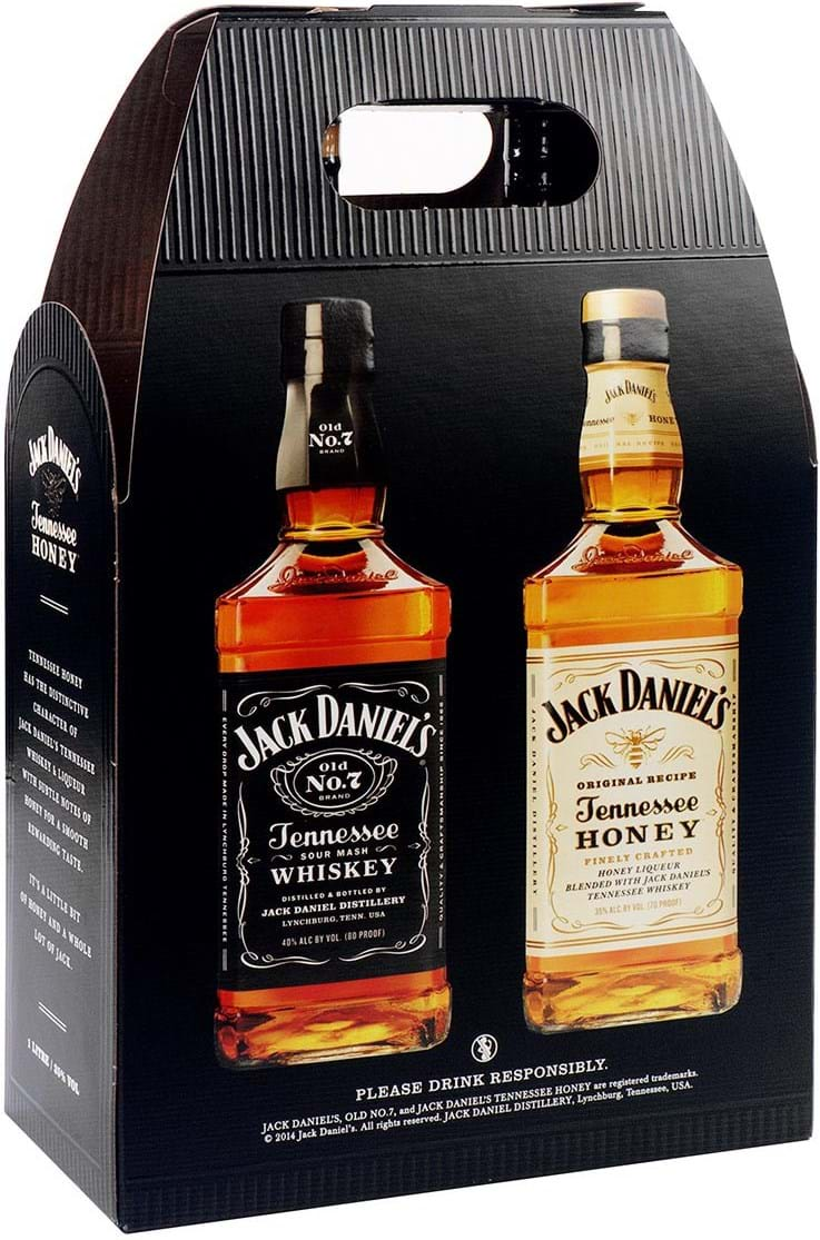 Jack Daniel's 40% + Honey 35% Twinpack 2x1L