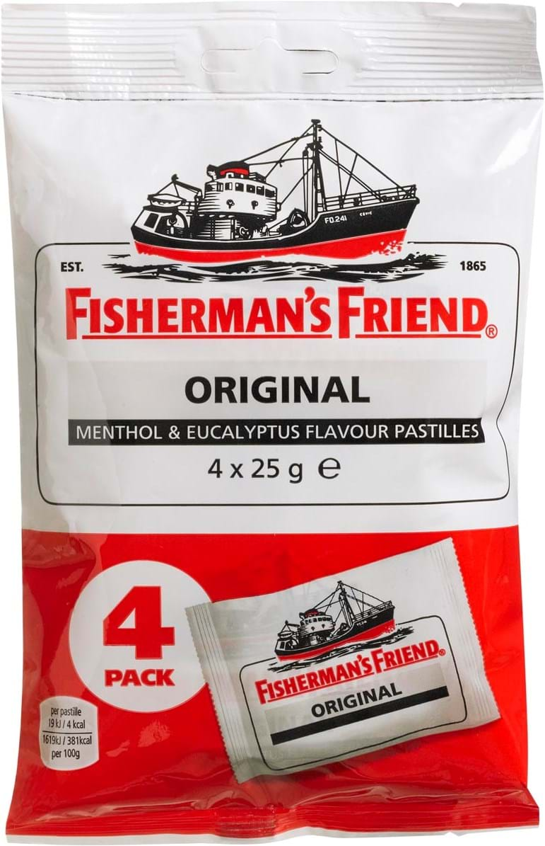 Fisherman's Friend Original Menthol & Eucalyptus 4x25g