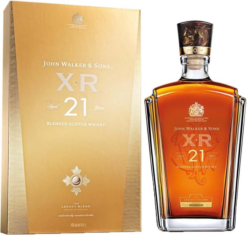 Johnnie Walker XR 21 40% 1L, giftbox