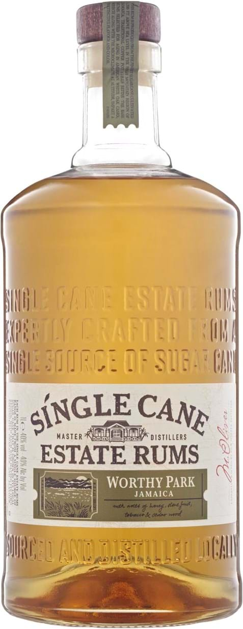 Single Cane Worthy Park 40% 1L, giftbox