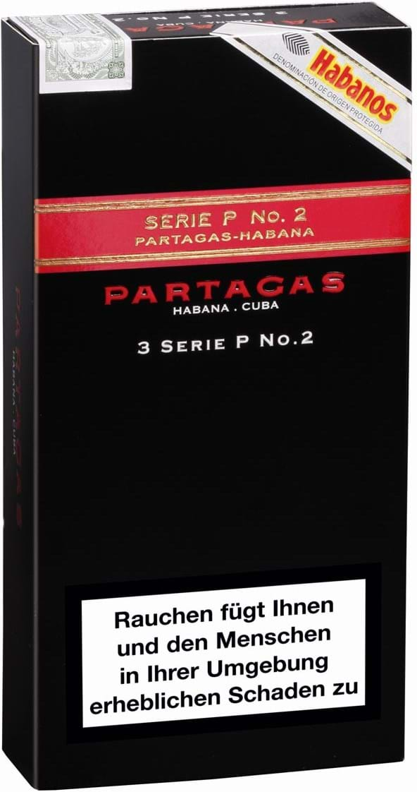 Partagas-serien P N°2, aluminiumsrør, 3 stk