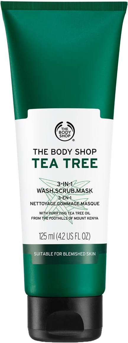 The Body Shop Tea Tree 3‑i‑1 vaskeskrubbemaske 125 ml
