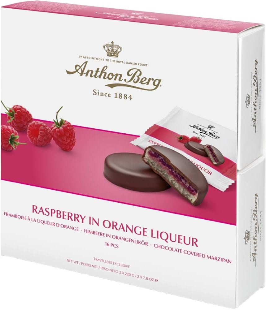Anthon Berg Raspberry in Orange Liqueur 440g