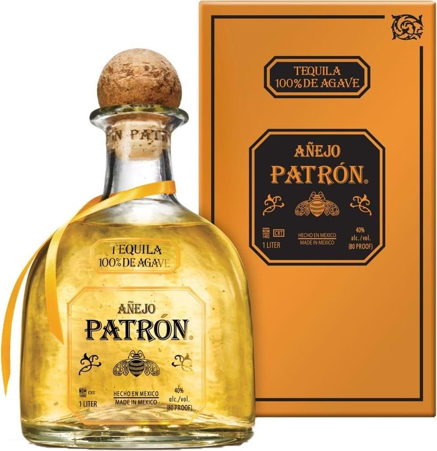 Patron Tequila Anejo 40% 1L, gaveæske