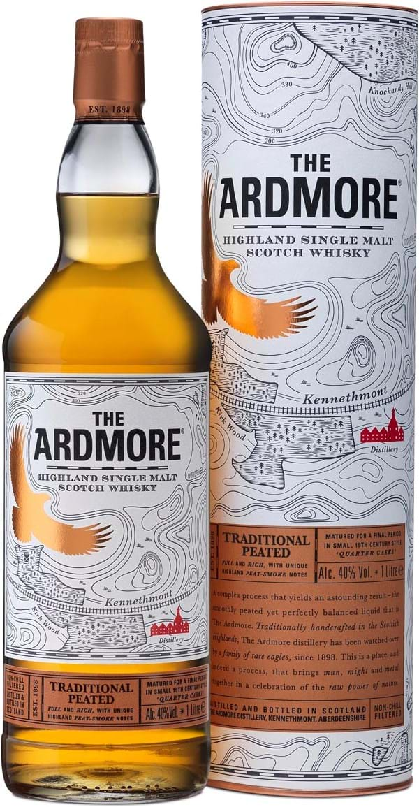 The Ardmore Traditional Peated 40% 1L