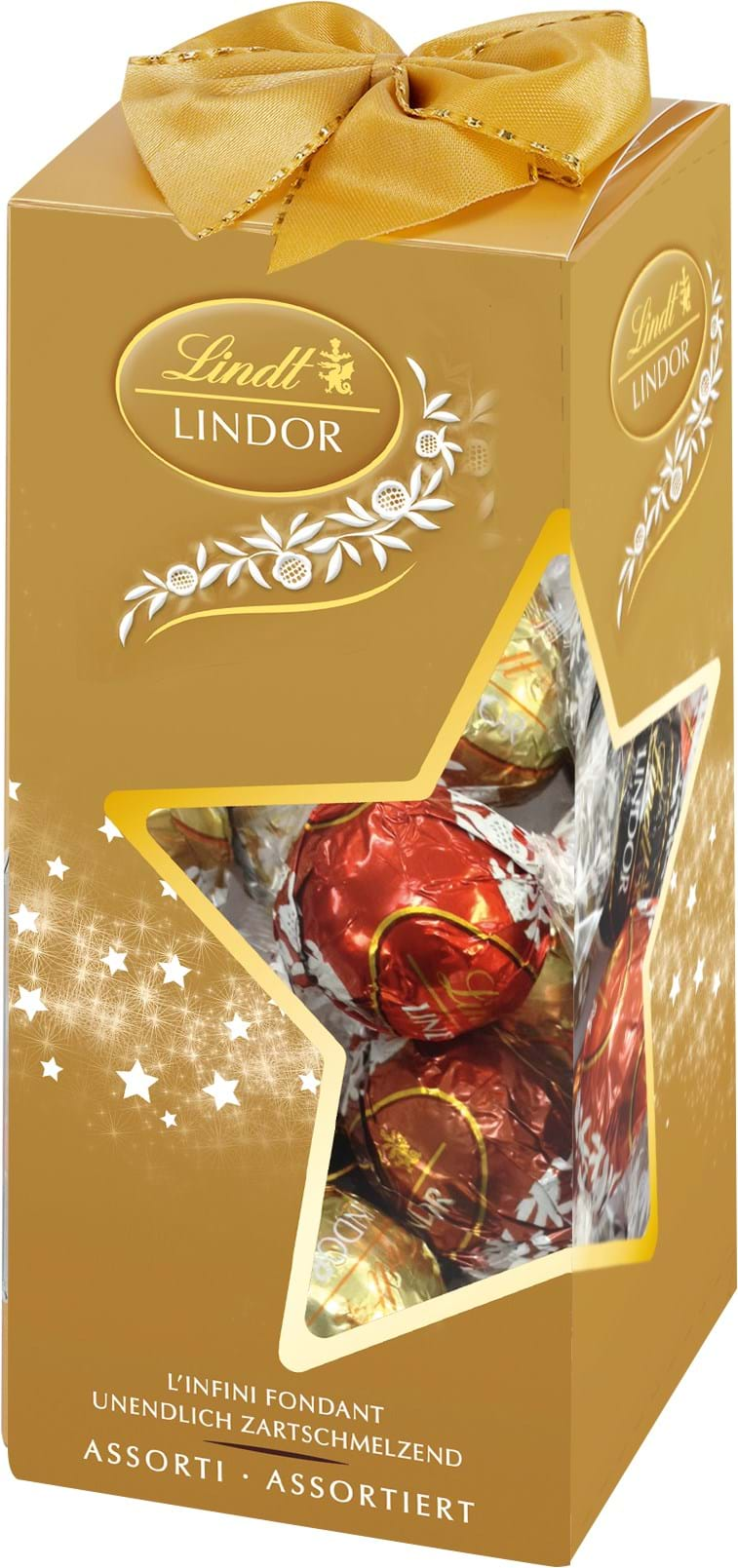 Lindor Assorted in gold star-silhouette box 350g
