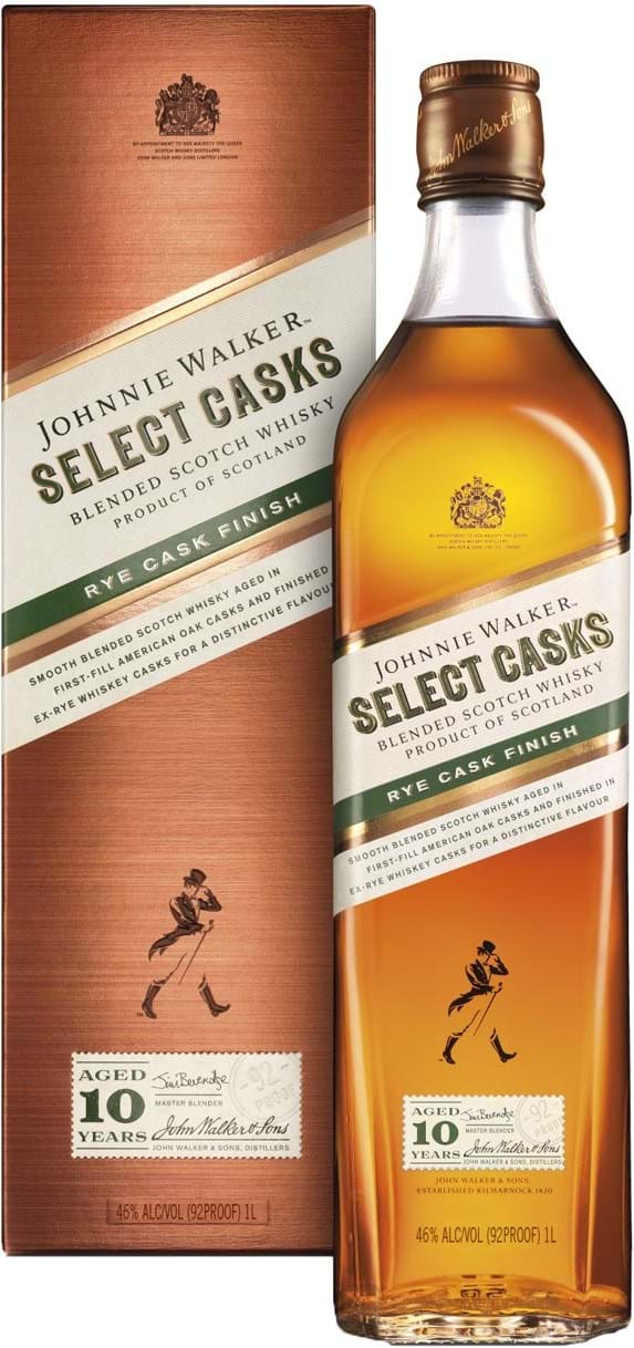 Johnnie Walker Select Casks, Rye Cask Finish 46% 1L