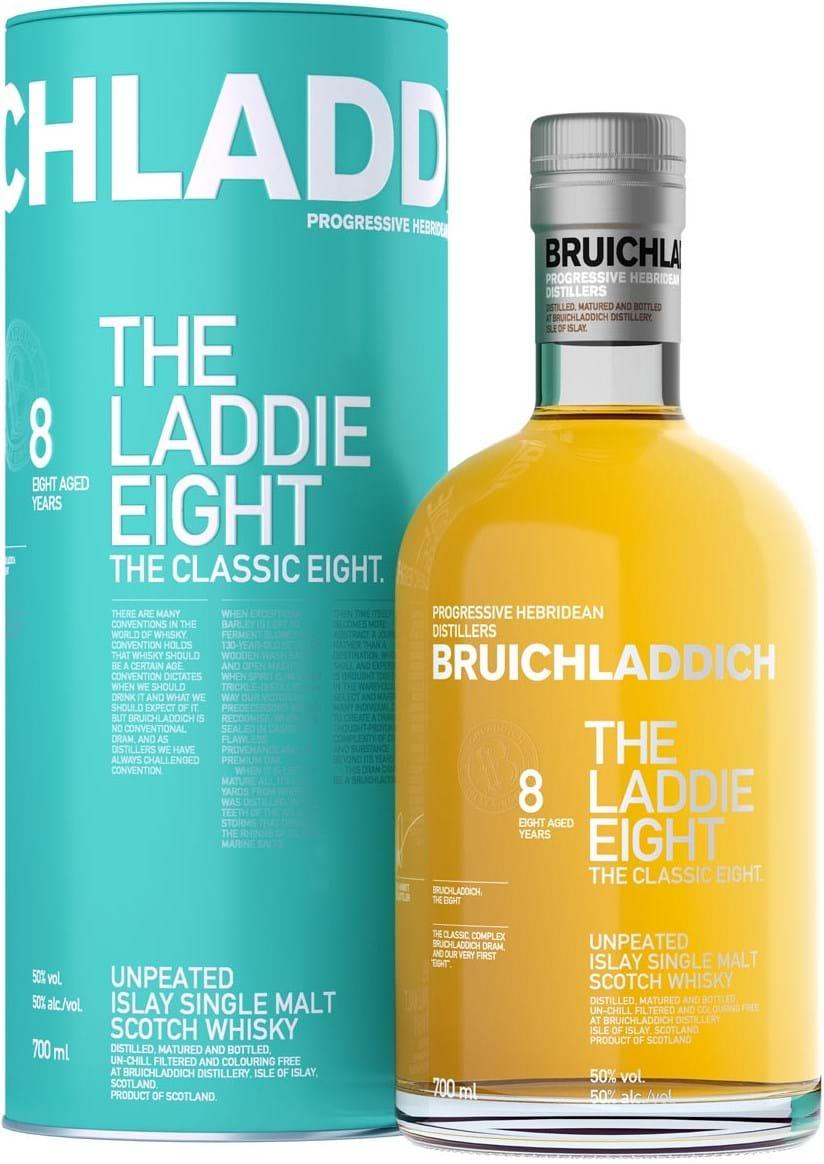 Bruichladdich Laddie 8 50% 0.7L, Tin
