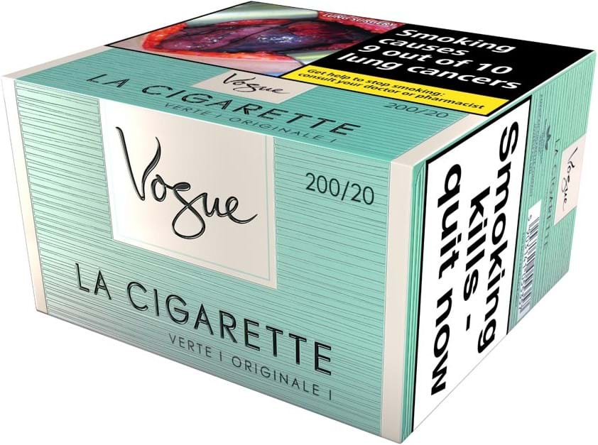 Vogue Superslims Verte Cigarette 200s