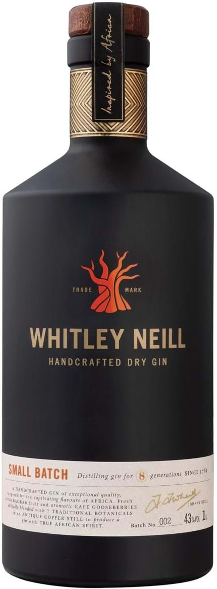 Whitley Neill Handcrafted Dry Gin 43% 1L
