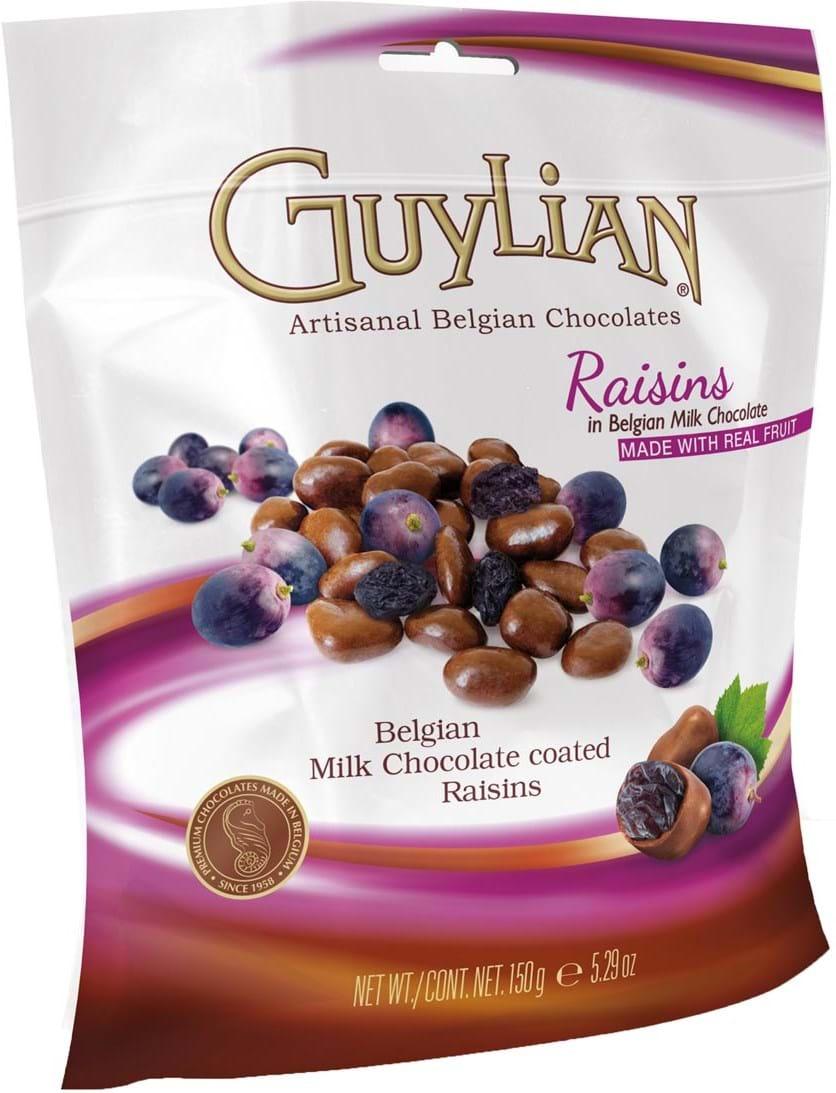 Guylian-mælkechokolade med rosiner, standard 150g