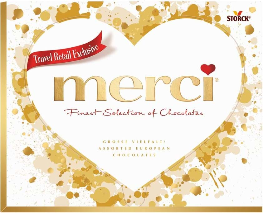 Merci Heart Box 250g