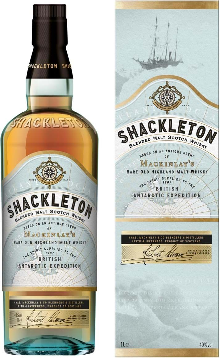 Shackleton Blended Malt Whisky 40% 1L, giftbox