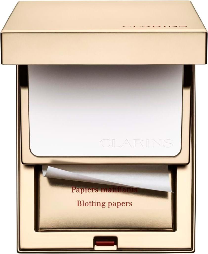 Clarins poreperfektionerende teintpudder med matterende trækpapir