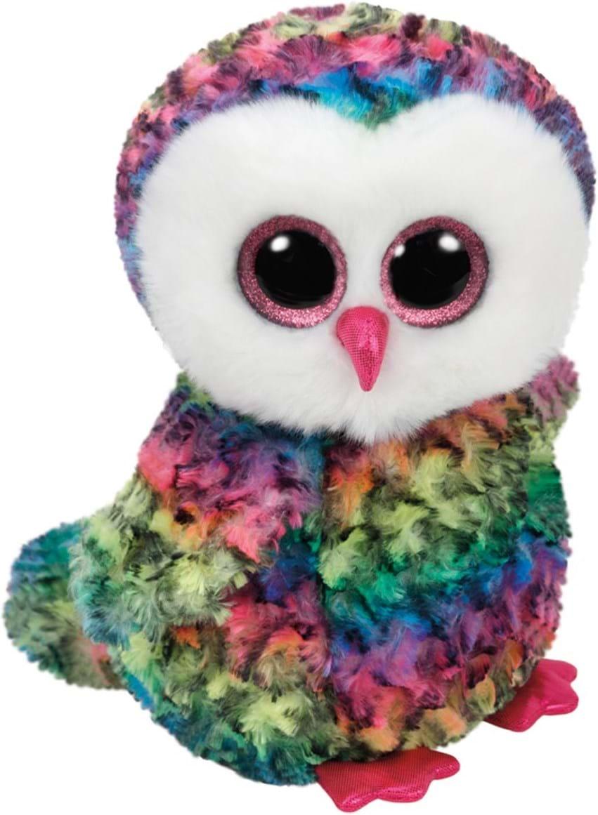 TY, Beanie Boos, owen,owl multicolor 24cm