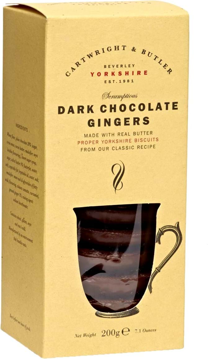 C&B – mørk chokolade med ingefær 200g