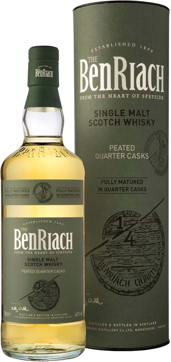 BenRiach Quarter Cask Peated 46 % 0,7L gaveæske
