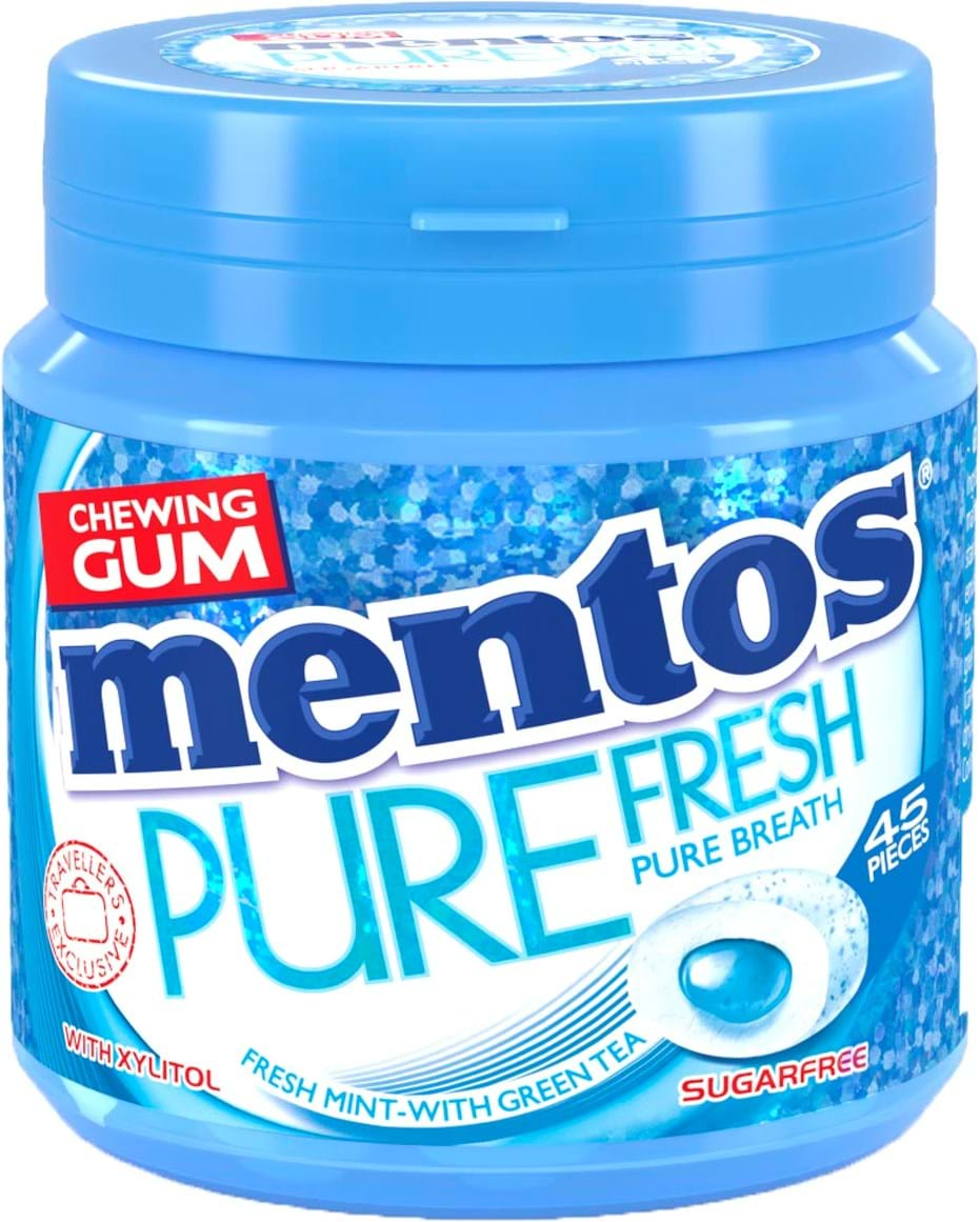 Mentos Gum Pure Fresh Mint, 90g