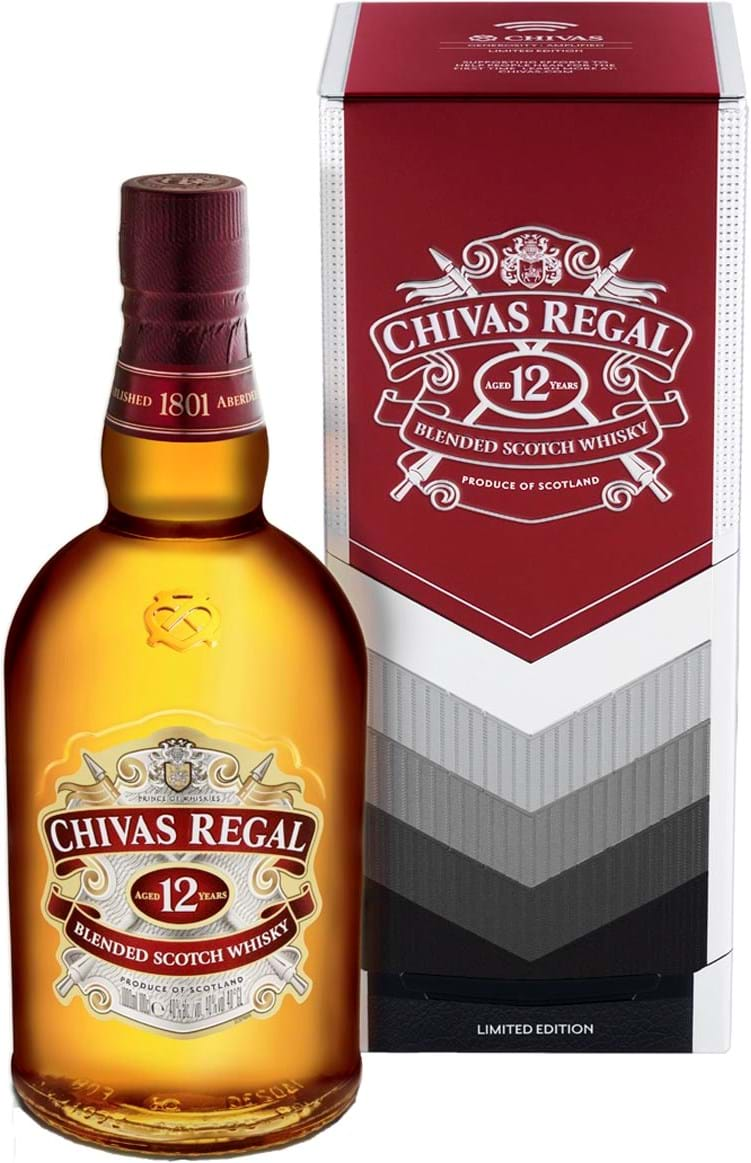 Chivas 12 Limited Edition Gift Tin 40% 1L
