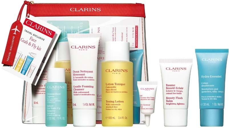 Clarins Take Off Grab and Fly‑sæt