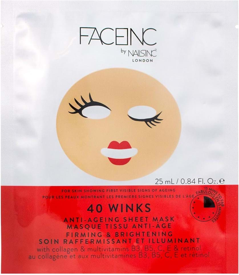 Face Inc. 40 winks Anti-Ageing Sheet Mask 25 ml