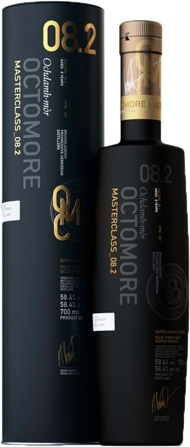 Octomore 8.2 58,4 % 0,7L, blikboks