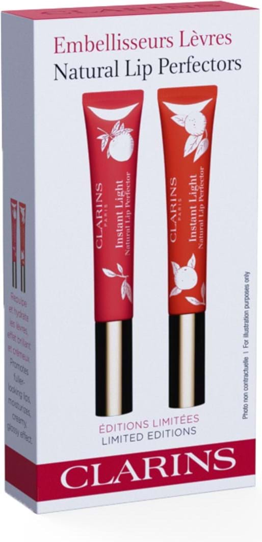 Clarins Instant Light Lip Perfector-duo, rejsesæt