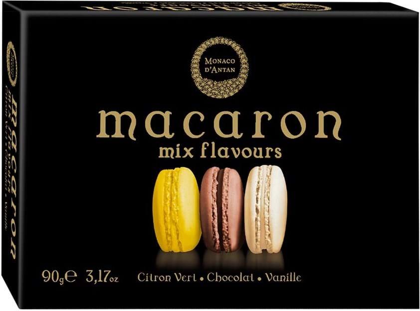 Macaron mix flavours Monaco D'Antan, marengs med creme 90g