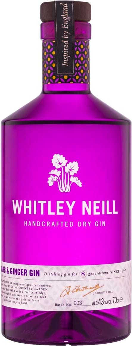 Whitley Neill Rhubarb & Ginger Gin 43% 1L