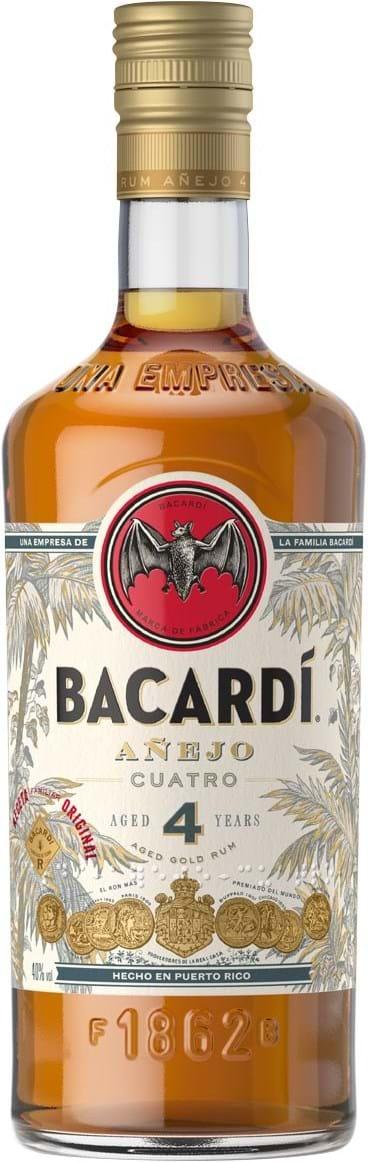 Bacardi Anejo Cuatro 40% 1L