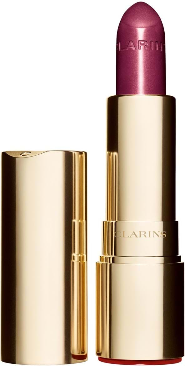 Clarins joli rouge brillant‑læbestift N° 744 soft plum