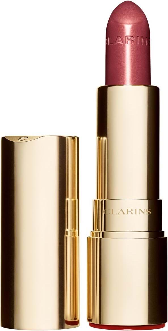 Clarins joli rouge brillant‑læbestift N°732 grenadine pink