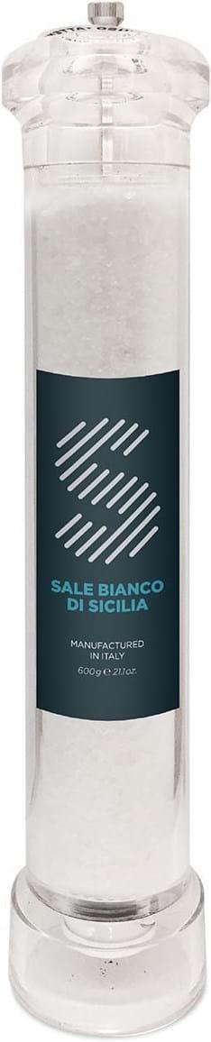 La Collina Toscana-kværn med siciliansk hvidt salt 600g