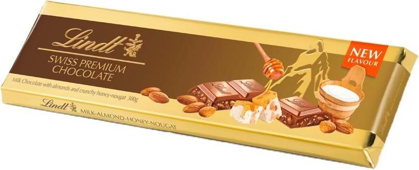 Lindt Gold Tablet Milk Crunchy Nougat 300g