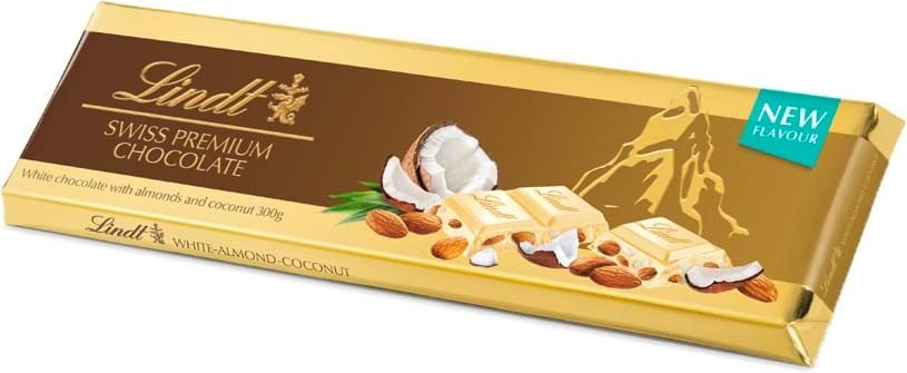 Lindt Gold Tablet White Coconut Almond 300g