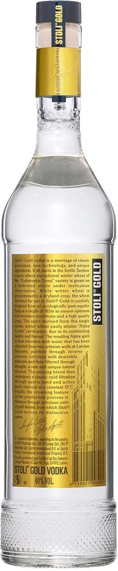 Stolichnaya Vodka Gold 40% 1L