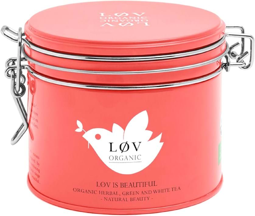 Løv Organic – aromatiseret blanding af te, rooibos og gule frugter 100g