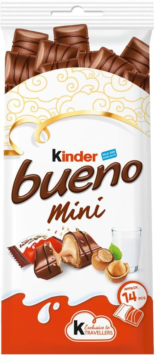 Kinder milk chocolate covered wafer mini with smooth milky and hazelnut filling 79g