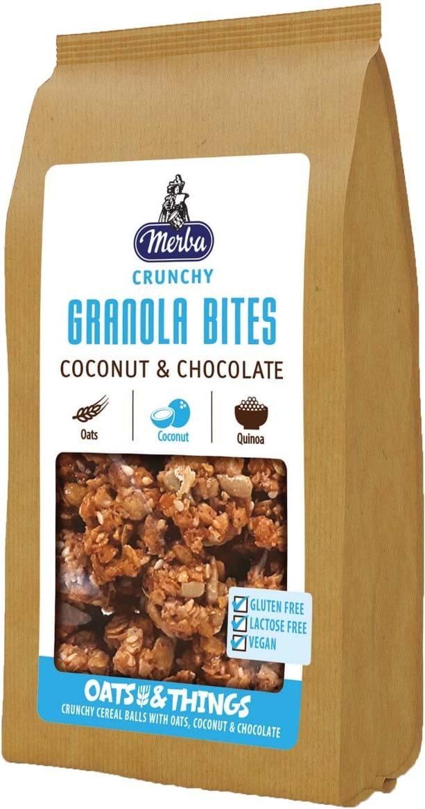 Merba Cereal Balls med fuldkornshavregryn, kokos og chokolade og quinoa 125g