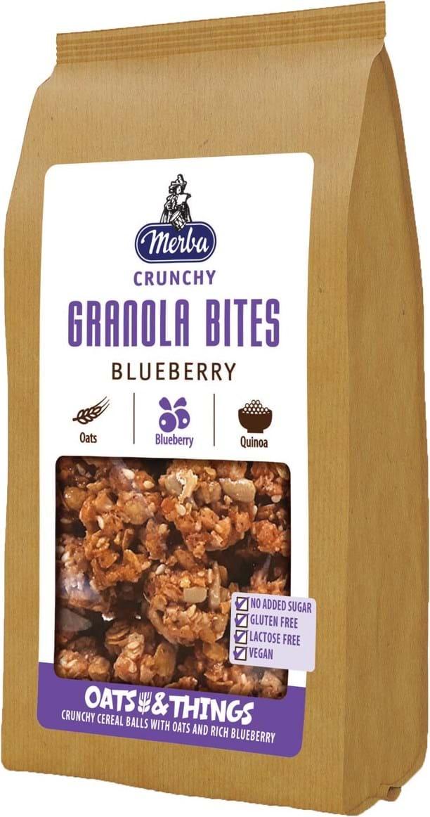 Merba Cereal Balls med fuldkornshavregryn, blåbær og quinoa 125g
