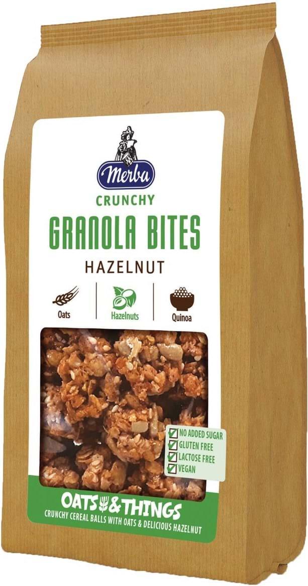 Merba Cereal Balls med fuldkornshavregryn, hasselnødder og quinoa 125g